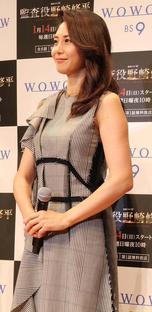 おおぞら銀行初の女性役員を目指す・立川祥子役の松嶋菜々子は「いかに力強さを出せるかを意識しました」