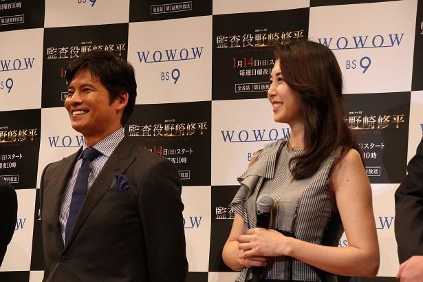 映画「ホワイトアウト」以来の共演の織田と松嶋