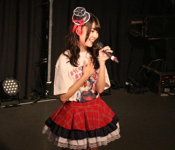 アンコールでは、「まだまだイケるよねっ★」と書かれた、だぁやめ(岡田彩夢)デザインのTシャツを着用