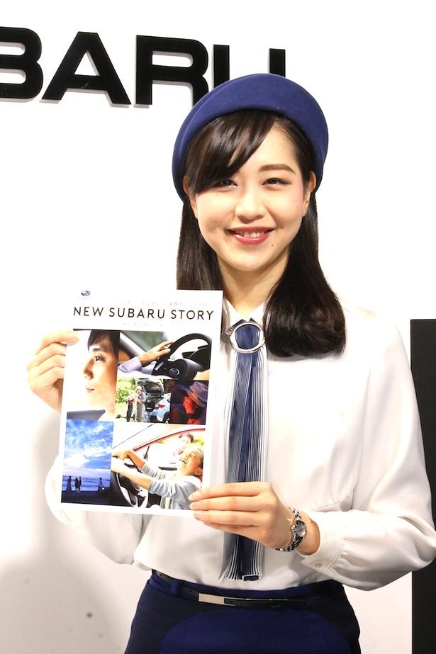 「(株)SUBARU」のブースで見つけた美人コンパニオン