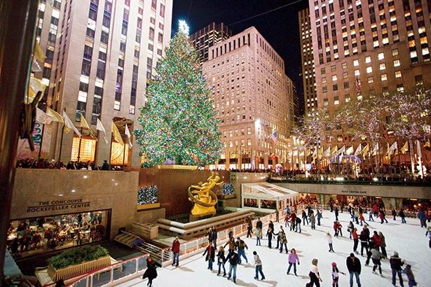 クリスマス一人旅!ニューヨーク、ロックフェラーセンターのクリスマスツリー