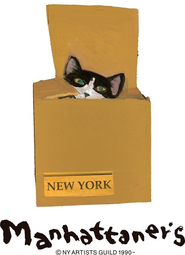 画家・久下貴史のNY猫のバッグや雑貨を販売する「マンハッタナーズ」。このほかカジュアルスタイルの服屋「アンドドットノスタルジア」がオープン