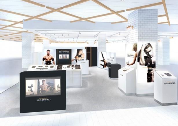 国内3店舗目の直営専門店「SIXPAD STORE グランツリー武蔵小杉」。フィッティングルームも完備し、SIXPADシリーズ全アイテムをじっくり試すことができる