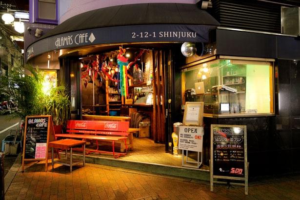 「ALAMAS CAFE」はオープンスタイルで、初心者でも入りやすい造り