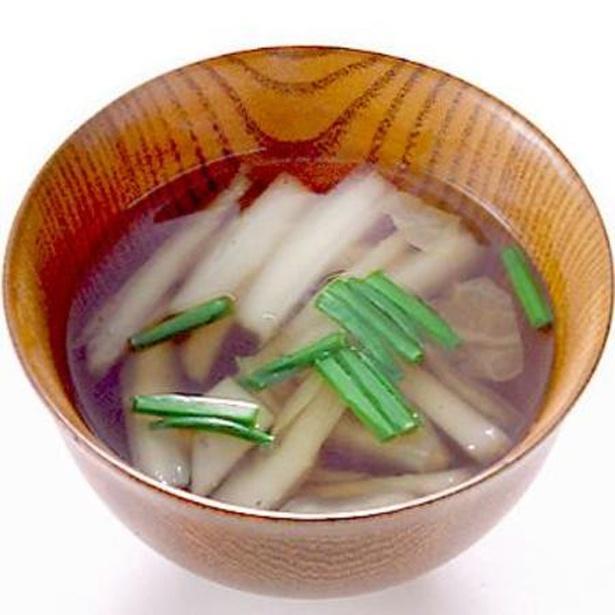 「白菜のすまし汁」