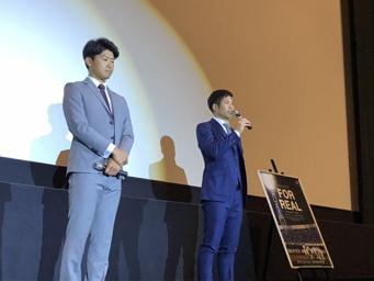 横浜DeNAベイスターズの今永昇太選手(左)と桑原将志選手(右)が登壇