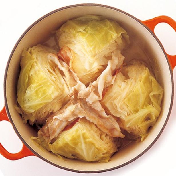 【関連レシピ】「まるごとキャベツの蒸し煮」