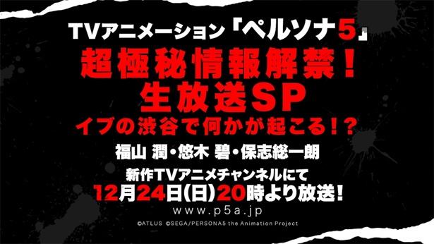 TVアニメ「ペルソナ5」が12月24日に生放送特番を放送!
