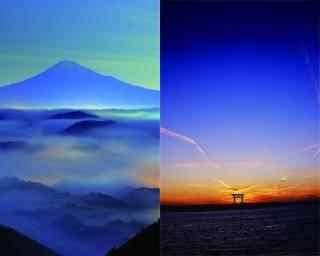 静岡市を代表する絶景「清水区吉原からの雲海と富士山」