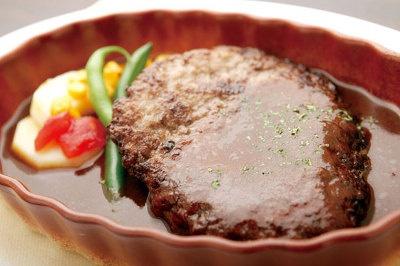 国産牛100%洋食屋さんのハンバーグ(950円)