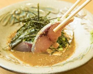 「ゴマサバ」(1058円)。長崎・対馬産のサバはプリッと心地よい弾力があり、脂に甘味がある