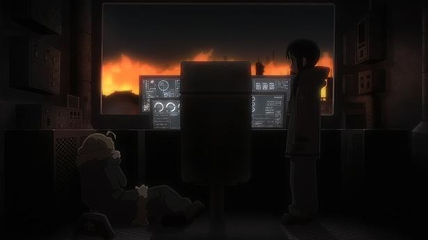 「少女終末旅行」第11話の先行カットが到着。猫のような謎の生き物ヌコと遭遇!