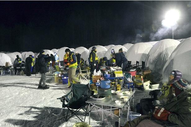連日-20℃を下回る極寒の時期に開催される、陸別しばれフェスティバル