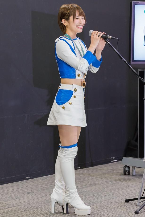 【写真を見る】今年レースクイーンデビューした織田真美那が驚きの発言