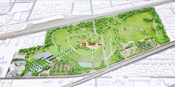 安満遺跡公園のイメージ。阪急高槻市駅からも近い身近な都市公園であり、高槻市民の憩いの場としての活用に期待がかかる