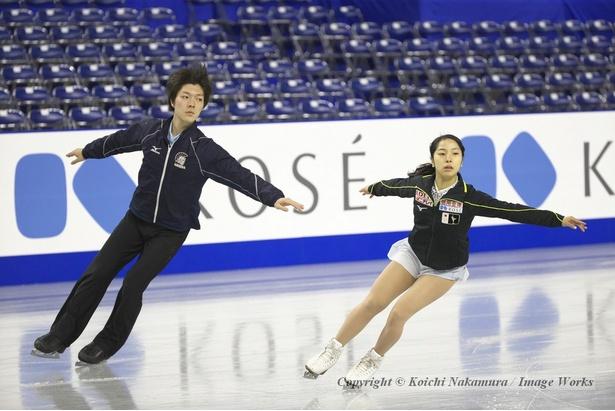 三浦・市橋組、全日本選手権の公式練習にて
