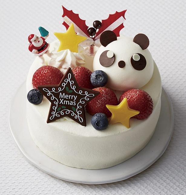 【写真を見る】パンダブームで沸く2017年だから、クリスマスケーキもパンダで決まり!ブールミッシュの「クリスマスショートパンダ」