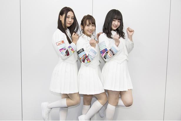 (右から)SKE48の江籠裕奈さん、大場美奈さん、古畑奈和さん