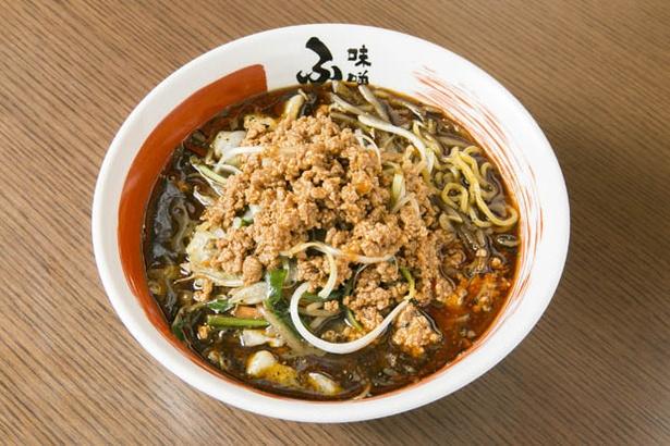 「熱旨野菜の黒胡麻味噌担々麺」(840円)は、ピリッと山椒が効く