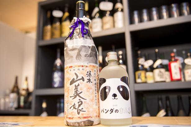 【写真を見る】一風変わった、笹が原料の焼酎「パンダのまんま」はパンダのボトルがかわいい