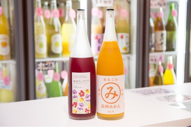 「梅酒サングリア」など変わった果実酒も。好みの果実酒とバニラアイスでアフォガードを楽しむこともできる