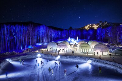 冬にだけ現れる氷の街「アイスヴィレッジ」