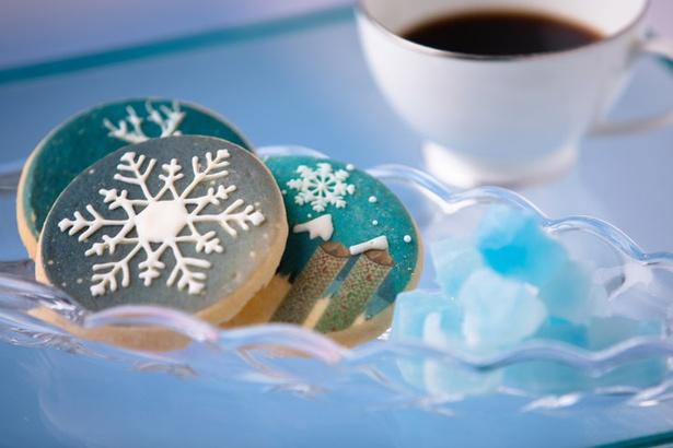 「氷のスイーツカフェ」では雪や氷をイメージしたスイーツが楽しめる