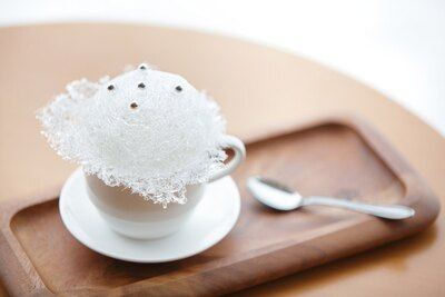 数量限定の「霧氷コーヒー」(500円)