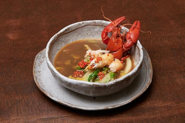 スープに使用しているザリガニは阿寒湖から仕入れている