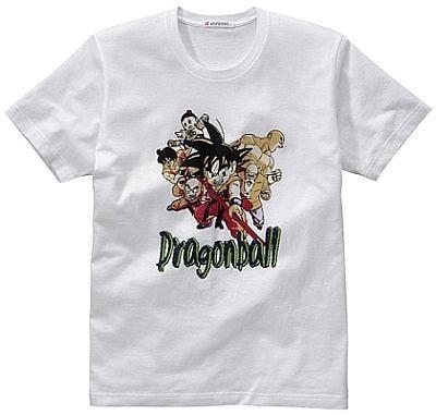 ハリウッド映画にもなった日本の人気マンガ「ドラゴンボール」の半袖Tシャツ。カラーは写真のホワイトのほかにパープルがある。Tシャツは全種類1500円で販売
