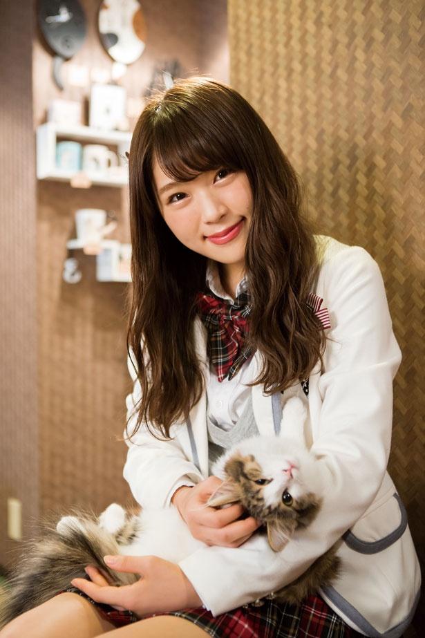 (なぎちゃん)「猫は自由気ままで、甘える時は甘えて、嫌な時は嫌。そういうところもかわいいよ」/猫cafe ぐるぐる堂