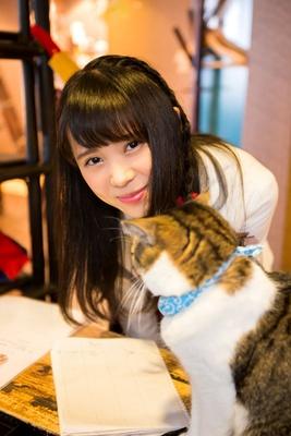 (ももるん)「猫の魅力がわかりました。私も、もっと仲良くなりたいです」/猫cafe ぐるぐる堂
