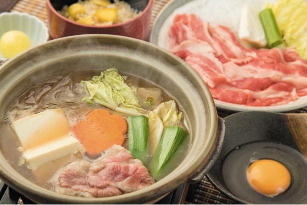 【北熊本SA下】「あか牛と献上豆腐の牛すき鍋」(1480円)