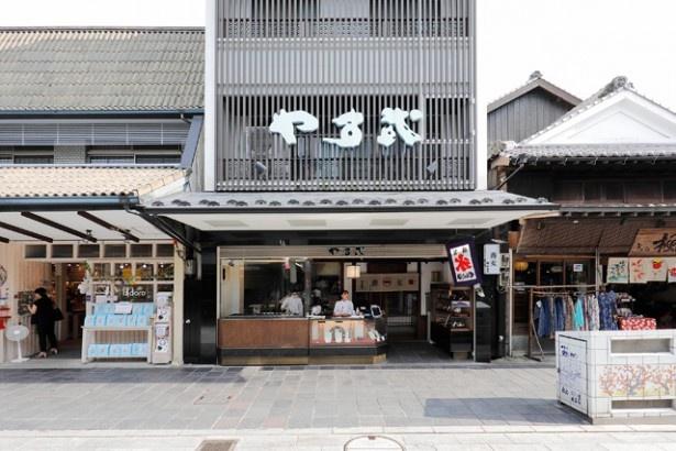 手打ちそばの店としても有名な「そば 梅ヶ枝餅 やす武」