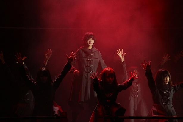 欅坂46のリハーサルの様子