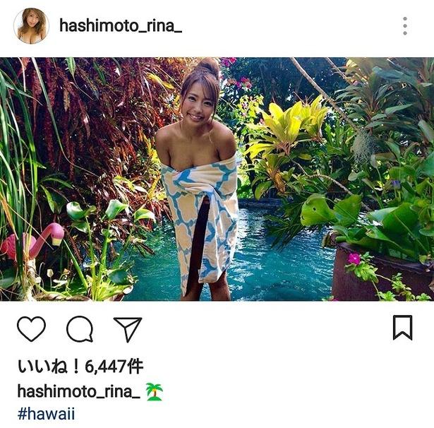 橋本梨菜公式Instagramのセクシーショット集