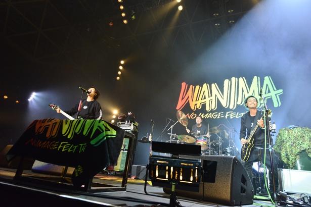 「COUNTDOWN JAPAN 17/18」WANIMAのステージ