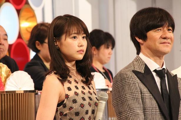 第68回NHK紅白歌合戦のリハーサルの様子。嵐・二宮和也は内村光良、有村架純と司会を務める