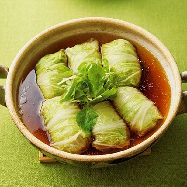【写真を見る】第4位は、ロールキャベツならぬロール白菜!