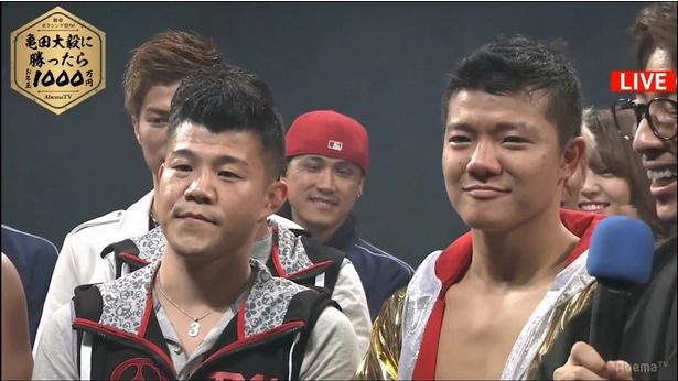 【写真を見る】現役復帰宣言も飛び出した亀田興毅の目には涙も?
