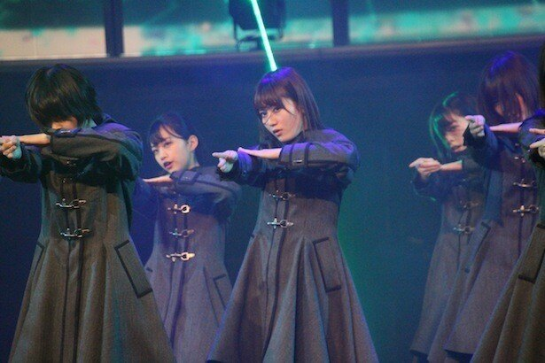 欅坂46はリハーサルの時からすさまじい気迫のパフォーマンスを見せていた