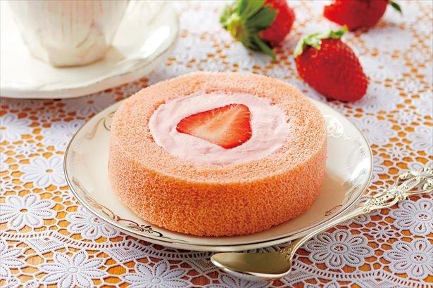 あまおう苺づくし!「あまおう苺のロールケーキ」