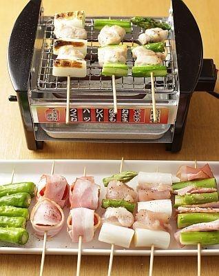 やけ具合を見ながら裏返すのも楽しいひと時。好みの焼き加減で熱々を食べよう