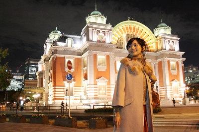 「大阪市中央公会堂」はすでにライトアップ実施中