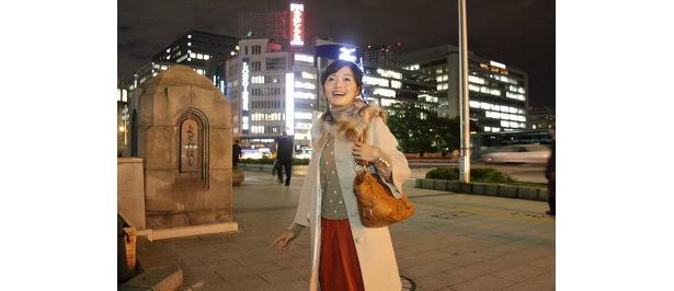 大阪市庁舎から「みおつくしプロムナード」へ。