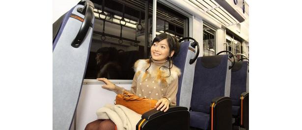 京阪電車の新型車両で、新会場へすぐ!