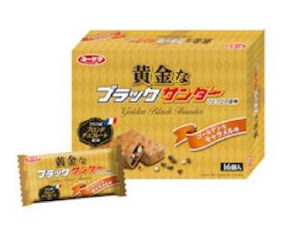 プレミアム義理チョコショップ「黄金なブラックサンダー」(16袋入り 1080円)