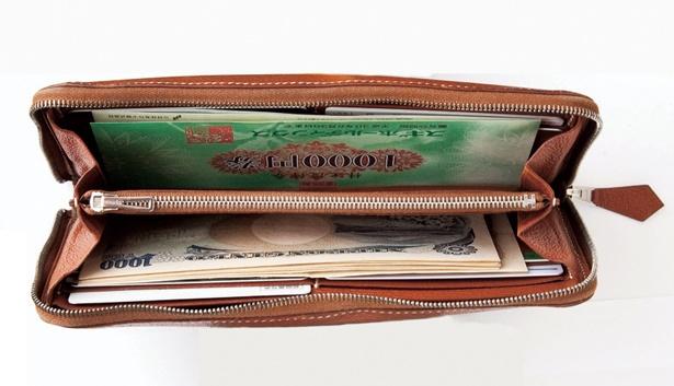 丸山晴美さんの財布の中はこんなにすっきり