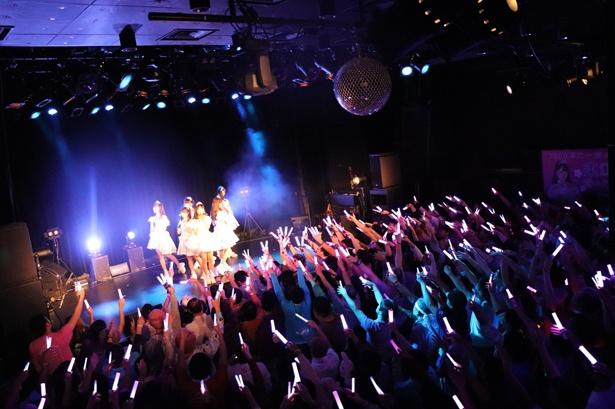 2ndシングル「3000年に一度のハピネス」で、あがりぃの卒業ライブは終演を迎えた