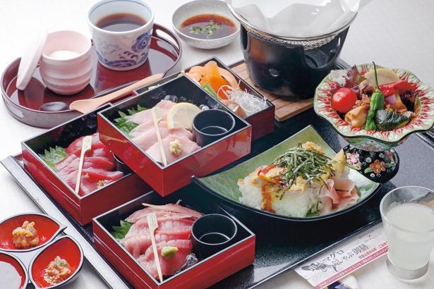 「潮岬観光タワー」で食べられる、串本マグロしゃぶしゃぶ御膳2800円(昼御膳)